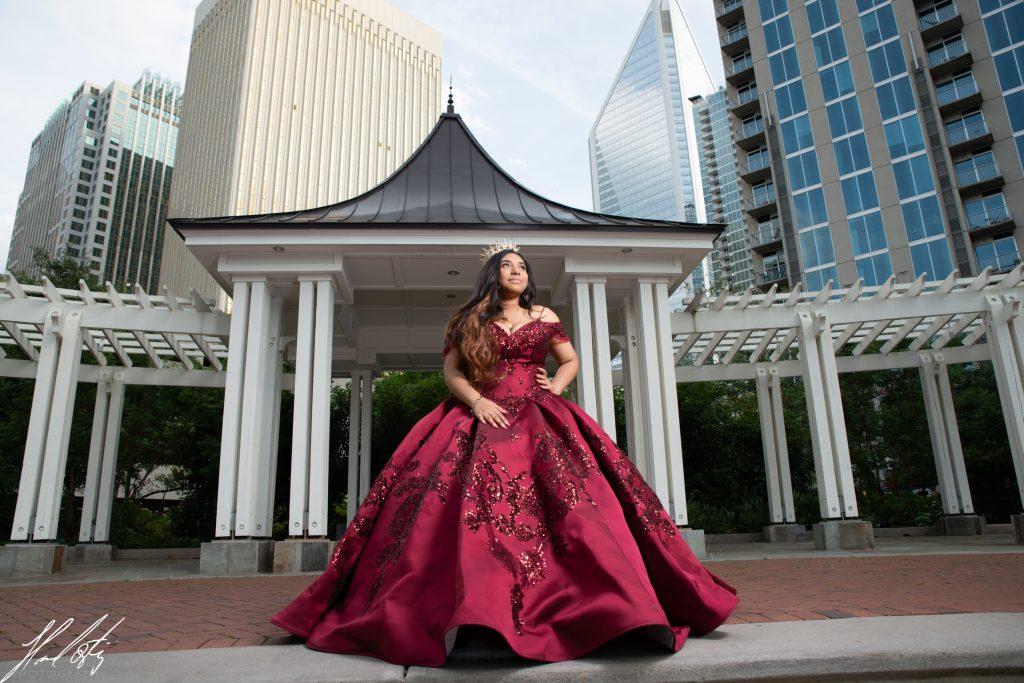 charlotte quinceañeras sweet15 sweet16 photography uptown red dress inspiration rental