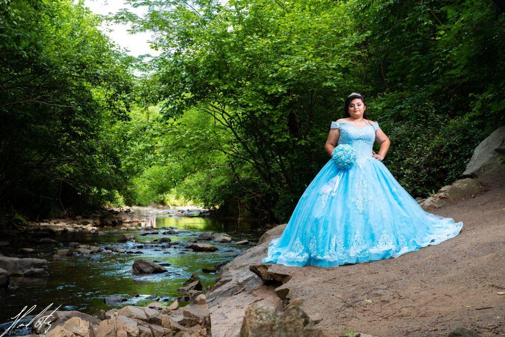 charlotte quinceañeras sweet15 sweet16 photography lake blue dress inspiration rental